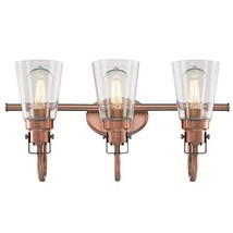 Westinghouse Lighting 6574800 Ashton Three-Light Indoor Wall Fixture, Washed Cop - $127.15