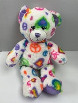 "Build a Bear Peace Sign Stuffed Animal Plush White Toy BAB 17"" - $17.82"
