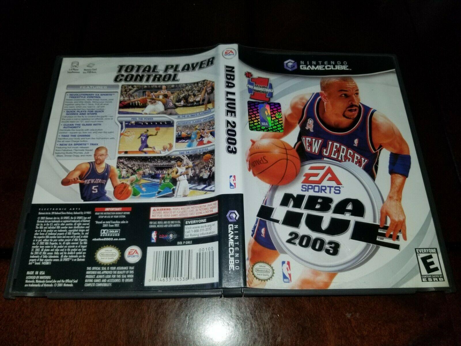 NBA Live 2003 Nintendo GameCube EX **Inv02952**