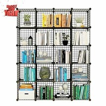 KOUSI Storage Cubes Wire Grid Modular Metal Cubbies Organizer Bookcases ... - $118.78
