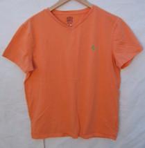 Ralph Lauren - Men's Polo Orange Cotton V- Neck T-Shirt - Size M - $12.99