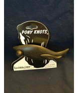 Leather Shop Ponytail Holder - Pony Knots - Black Fish - $6.88