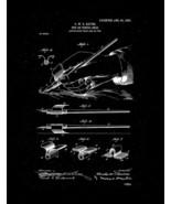 Pen or Pencil Grip Patent Print - Black Matte - $7.95+