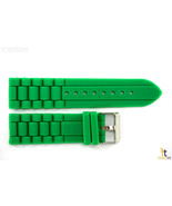 24mm Fits Fossil Green Silicon Rubber Watch BAND Strap - $11.01