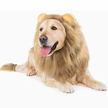 GALOPAR Lion Mane for Dogs Realistic Lion Wig Dog Lion Costume, Halloween - $37.49