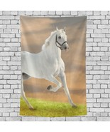 Tapestry Wall Art Interesting Jumping Horse Animal Pattern Good Tapestry... - $26.00