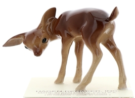 Hagen-Renaker Miniature Ceramic Deer Figurine Sister Doe and Fawn Sleeping Set image 3