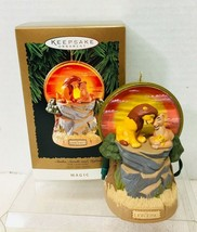 1994 Simba Sarabi and Mufasa Magic Hallmark Christmas Tree Ornament MIB ... - $28.22