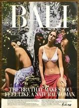 1976 Bali Bras PRINT AD Feel Like a Natural Woman Tropics Waterfall Flowers - $11.69