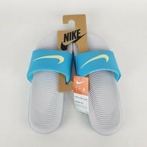 Nike Women's Kawa Slides Sandals Size 9 Blue Fury/Sky Grey  New - $26.09