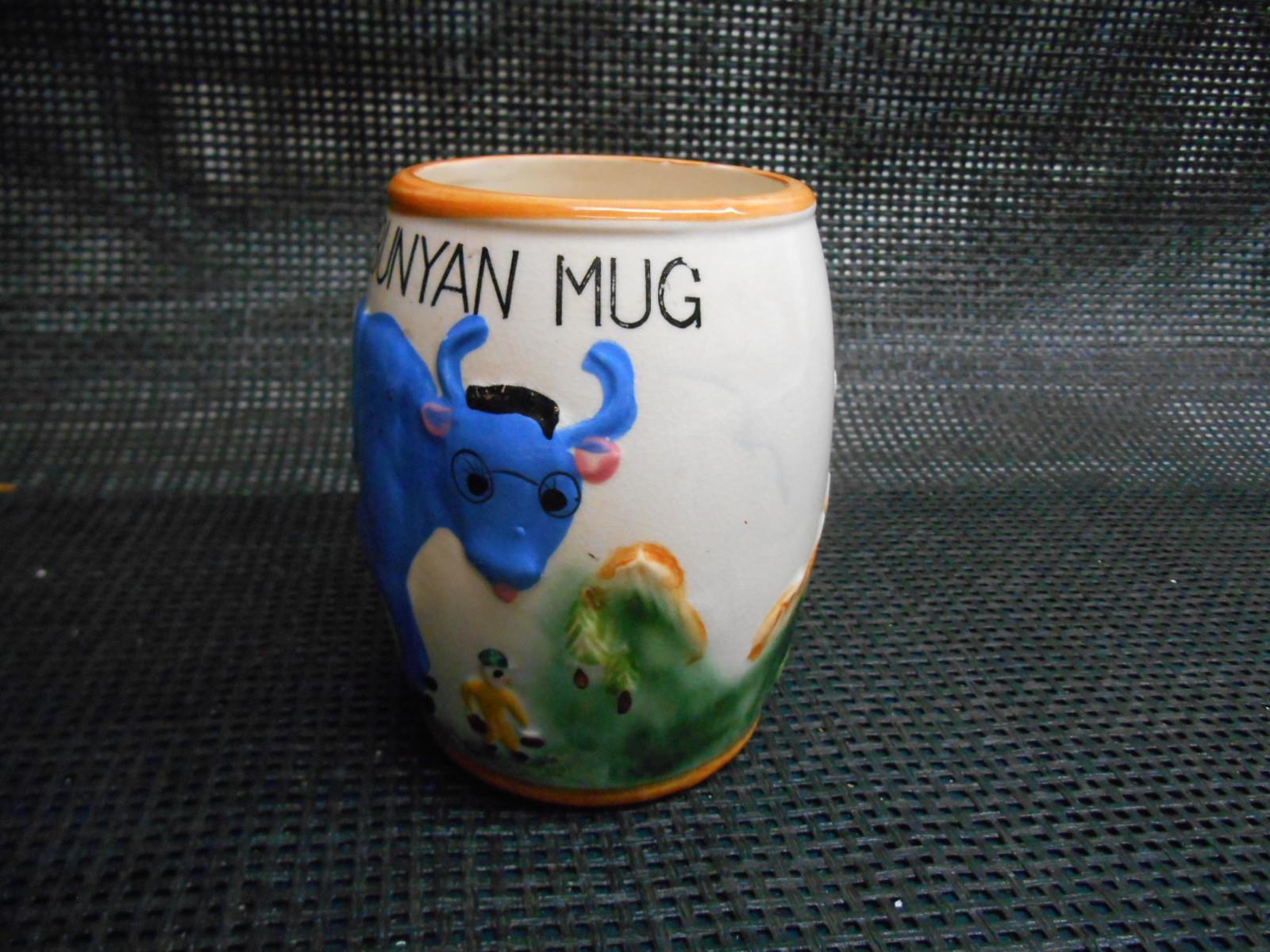 Old Vtg 1955 Geo. Z. Lefton PAUL BUNYAN MUG Cup Mule Tankard Woodsman Blue Ox