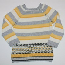 Gymboree Bright Owl Girls Sparkle Stripe Fair Isle Sweater size 5 6 - $17.99
