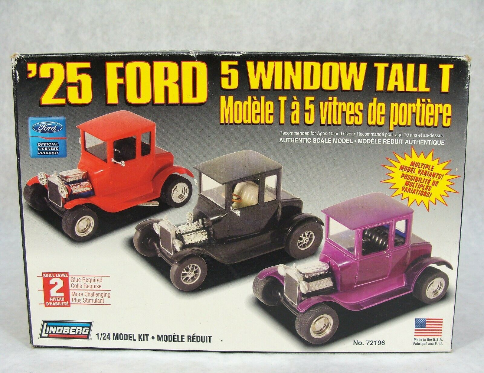 "Primary image for LINDBERG '25 FORD 5 WINDOW TALL ""T"" 1:24 CAR MODEL KIT NEW!"