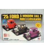 """LINDBERG '25 FORD 5 WINDOW TALL """"T"""" 1:24 CAR MODEL KIT NEW! - $24.74"""