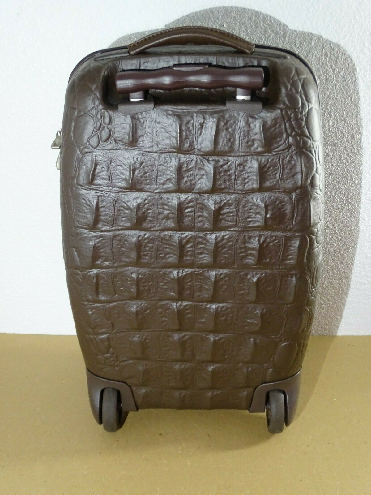 Samsonite Alexander McQueen Black Label Carry-On Suitcase Luggage Crocodile image 3