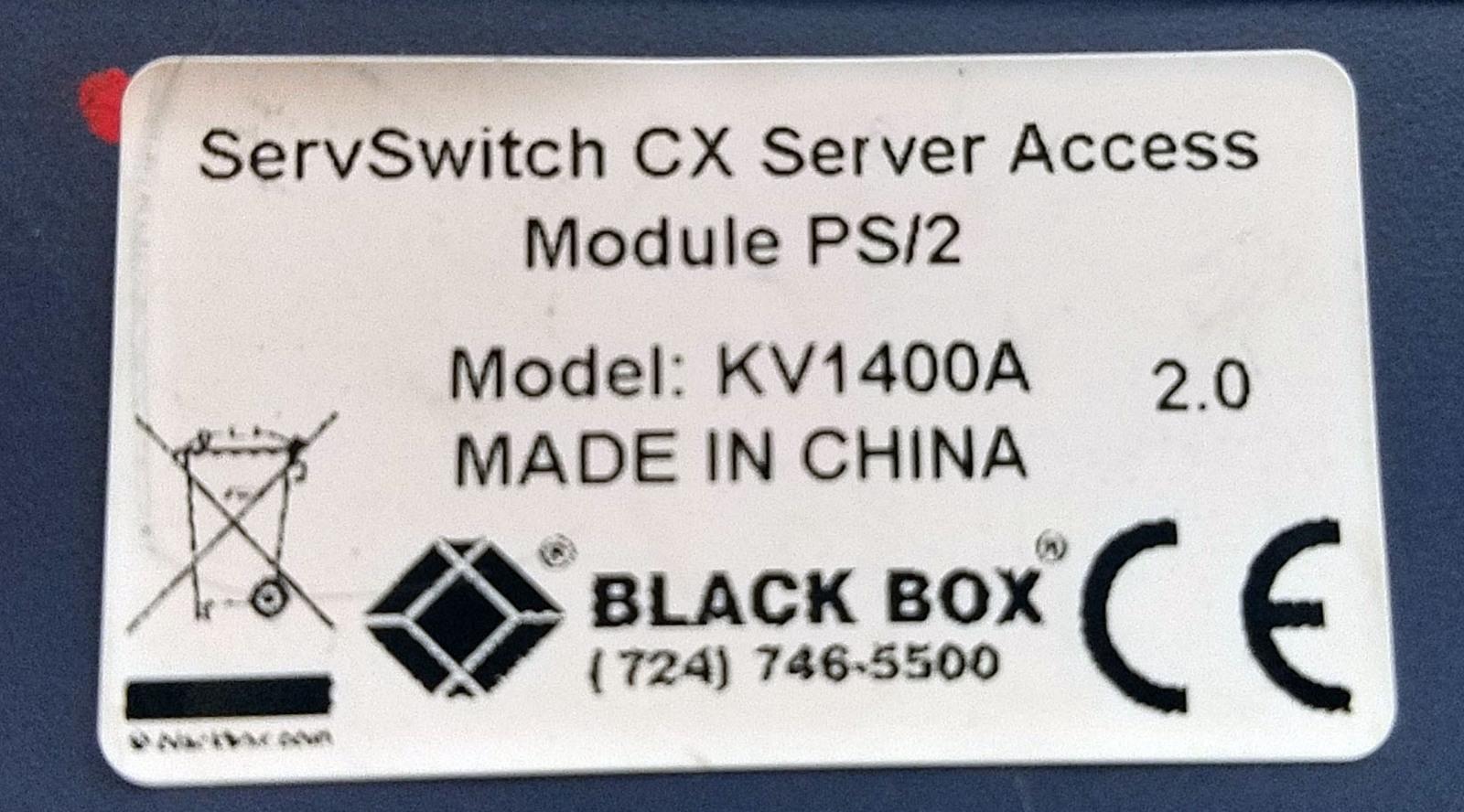 Black Box ServSwitch CX Server Access Module PS/2 KV1400A Bin:13