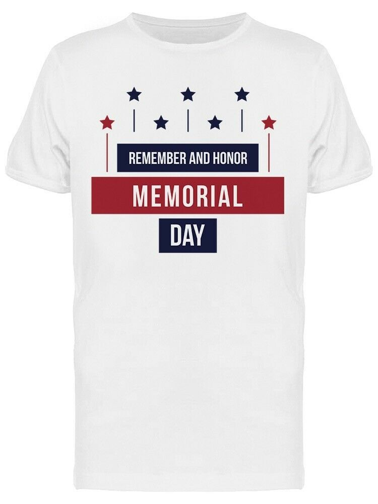 Remember And Honor Memorial Day Retro Graphic Men's T-shirt