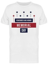 Remember And Honor Memorial Day Retro Graphic Men's T-shirt image 1