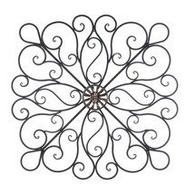 Decorative Metal Wall Decor, Rustic Scrollwork Wrought Iron Wall Decorat... - €66,06 EUR