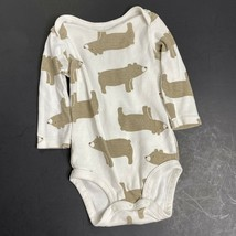 Carters Child of Mine One Piece 3-6M Beige Brown Grizzly Bear Bodysuit Snap Suit - $6.80