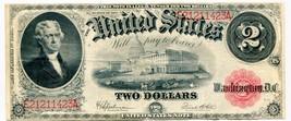1917 USA $2.00 Two Dollar Legal Tender Note Thomas Jefferson E21211423A - $249.99