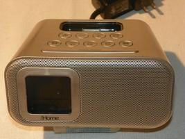 New Ihome Ih22 Alarm Clock Speaker System For Ipod Silver - $11.88