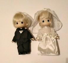 """Vintage 7"""" Precious Moments limited edition wedding bride & groom 1998 - $14.50"""