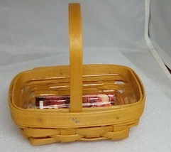 1999 Longaberger WB Parsley Booking Basket with protector - $17.64