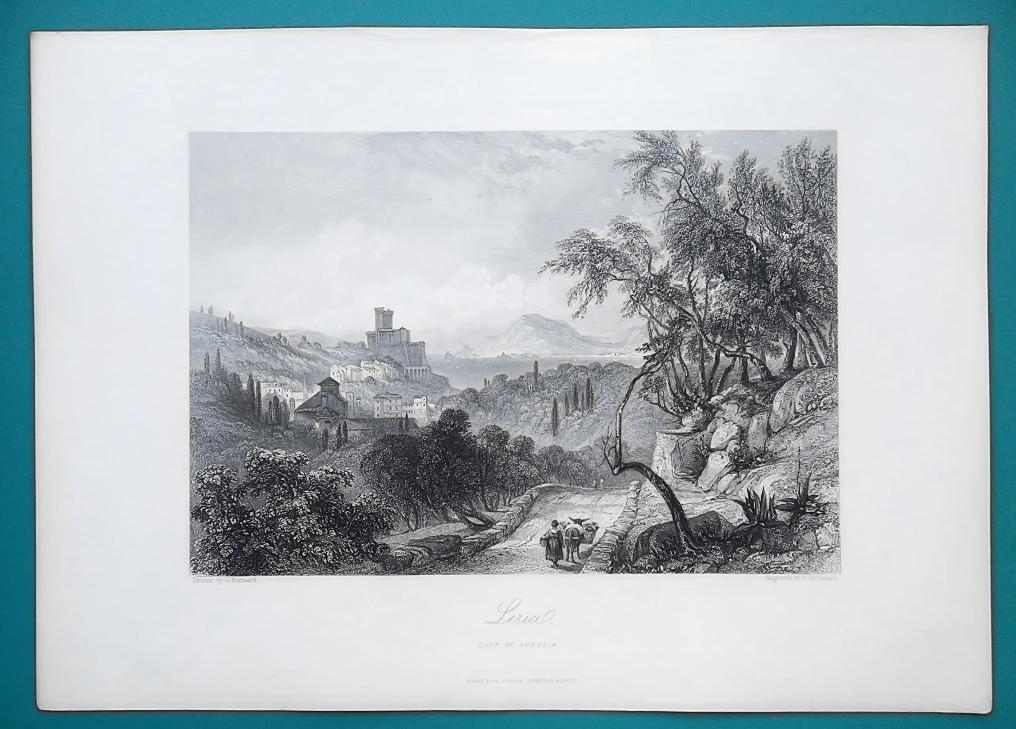 ITALY View of Lerici - 1864 Fine Quality Print Engraving