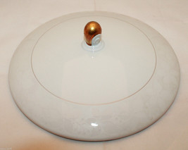 Rosenthal Germany White Velvet Gold Trim Round Lid Only for Large Bowl T... - $40.45