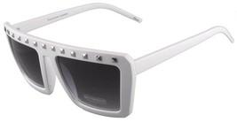 NEW Quay Eyeware Australia 1414 Matte White Silver Studs 100% UV Sunglasses image 2