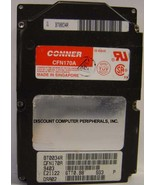 """10% off 2+ CONNER CFN170A 170MB 2.5"""" 19MM IDE Drive Tested Good Free USA... - $49.95"""