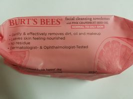 Burt's Bees Pink Grapefruit Facial Cleansing Normal-Oily Towelettes 30 Count x5 image 3