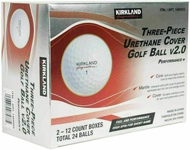 Kirkland Signature Three-Piece Urethane Cover (24) Golf Ball v2.0 COSTCO... - $43.55