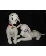 DISNEY STORE 101 DALMATIANS PONGO & PERDITA PUPPY DOG STUFFED ANIMAL PLU... - $61.29