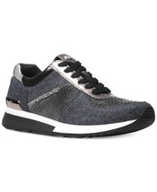 Michael Kors MK Women's Premium Allie Trainer Flannel Sneakers Shoes Charcoal