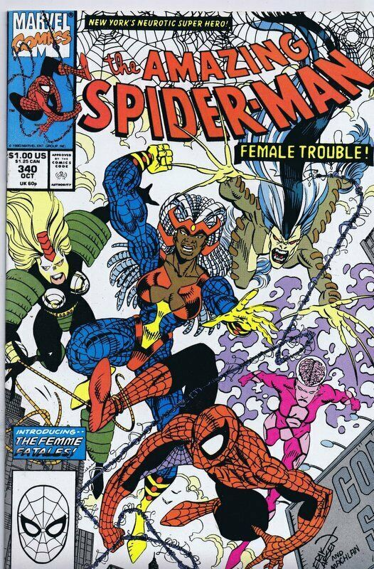 Primary image for Amazing Spiderman #340 ORIGINAL Vintage 1990 Marvel Comics 1st Femme Fatales