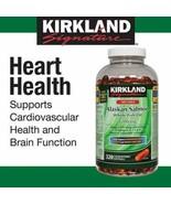 Kirkland Signature 100% Wild Alaskan Salmon Oil 1200mg 300 Softgels -LON... - $23.67