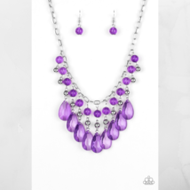 Beauty School Drop Out - Purple Necklace & Earring Set $5.00 - $5.00