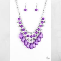 Beauty School Drop Out - Purple Necklace & Earring Set $5.00 - $5.00