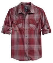 GUESS Men's Hammersmith Check Shirt , Pinot Noir Multi, Size L, MSRP $79 - $34.64