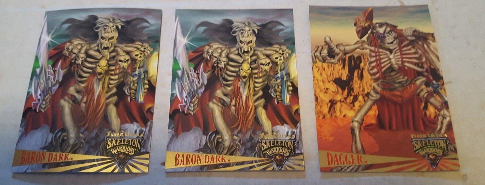 1995 Fleer Ultra Skeleton Warriors Promos lot of 3: 1- Dagger & 2- Baron Dark