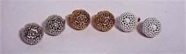 Vintage 3 pair Monet Enamel Clip on Earrings Gold Silver White - $29.95