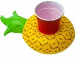 Pineapple Pool Side Party Cup Holder Inflatable Water Beach Fun Drink Float - £5.85 GBP