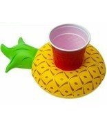 Pineapple Pool Side Party Cup Holder Inflatable Water Beach Fun Drink Float - £5.73 GBP