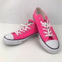 Converse Pink Women 10 Men 8 Low Top Chuck Taylor Lace Up Sneakers Canvas Hot - $24.74
