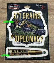 671 Grains Of Diplomacy Sticker Decal Set Army Sniper Soldier Military - $4.94