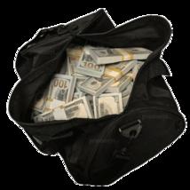 $500,000 - $100 Blank Filler Fake Bills Duffle Bag Poker Game Prank Musi... - $269.99