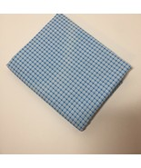 "3 Yards Blue Plaid Fabric 42"" wide 100% Cotton Kesslers Concord - $14.50"