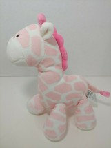 Carters Child of Mine Giraffe Plush pink white Rattle soft baby toy used - $10.68